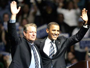 Al Gore endorse Barack Obama in Detroit, June 16 2008