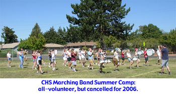 CHS Marching Band Summer Camp 2005 - cancelled for 2006