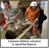 Lebanese child volunteers to speed the Rapture